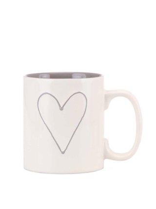 Cana mare alba Dakls din ceramica