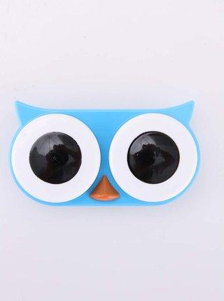 Modré pouzdro na kontaktní čočky Kikkerland Owl