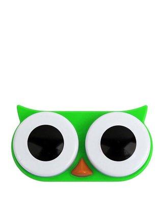 Zelené puzdro na kontaktné šošovky Kikkerland Owl