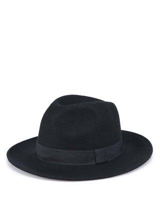 Černý klobouk Pieces Ravinda