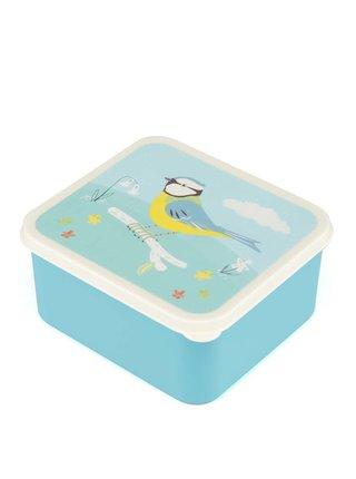 Tyrkysový box na jedlo so sýkorkou Rex Blue Tit