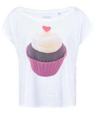Biele dámske tričko ZOOT Originál Cupcake