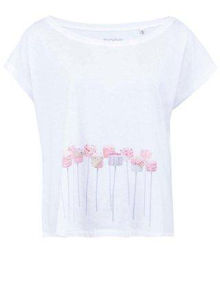 Biele dámske voľnejšie tričko ZOOT Originál Marshmallow