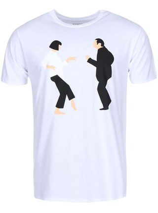 Tricou ZOOT Original Pulp Fiction alb barbatesc