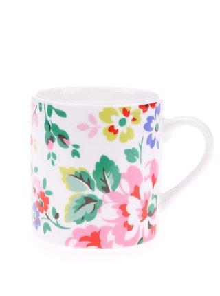 Bílý porcelánový hrnek s květinovým motivem Cath Kidston