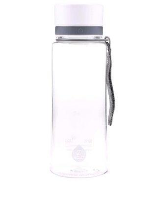 Sticla din plastic EQUA simpla cu capac alb (600 ml)
