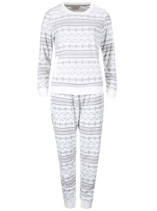 Sivo-krémové pyžamo s nórskymi vzormi Dorothy Perkins