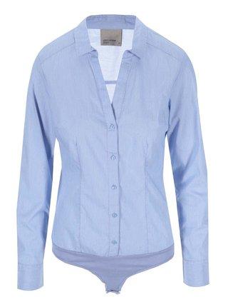 Modrá pruhovaná body košile VERO MODA Lady