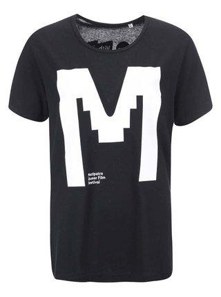 """""""Dobré"""" čierne unisex tričko s potlačou pre Mezipatra"""