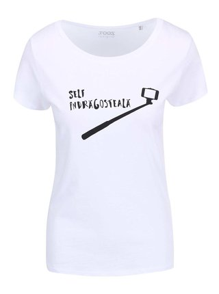 "Tricou alb pentru femei ZOOT Original ""Self-Indragosteala"""