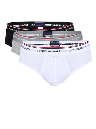 Set de 3 chiloti barbatesti negri Tommy Hilfiger