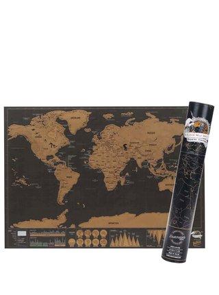 Malá nástěnná stírací mapa Luckies Deluxe