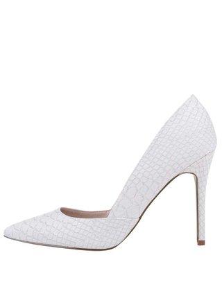 Pantofi Dorothy Perkins crem, din imitatie de piele de sarpe