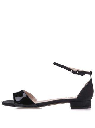 Čierne lesklé sandále OJJU
