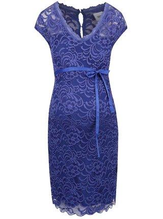 Rochie Mama.licious New Mivana albastra cu dantela pentru gravidute