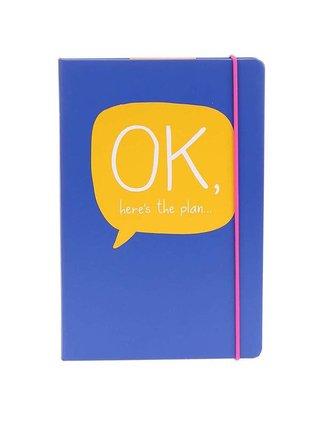 Modrý zápisník A5 Happy Jackson Ok Here's The Plan