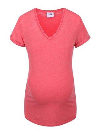 Koralové tehotenské tričko Mama.licious Japo