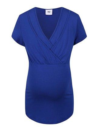 Modré tehotenské tričko Mama.licious Anette