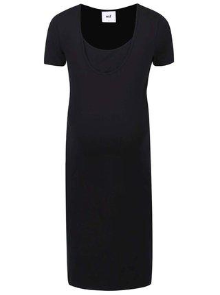 Čierne tehotenské/dojčiace šaty Mama.licious Lea