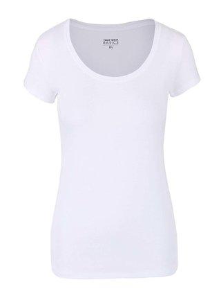 Biele basic tričko s okrúhlym výstrihom TALLY WEiJL Tadalo