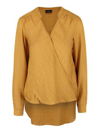 Bluza asimetrica VILA Ramina cu decolteu in V suprapus
