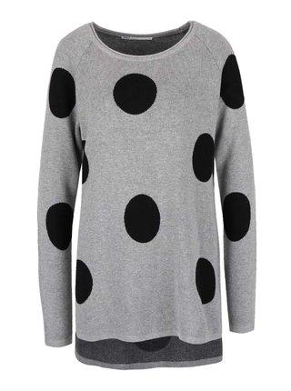 Svetlosivý sveter s veľkými bodkami ONLY Harlow