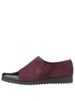 Pantofi loafer OJJU visii din piele intoarsa