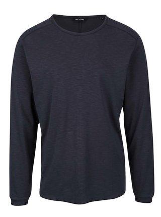 Tmavomodré melírované tričko s dlhým rukávom ONLY & SONS Karl