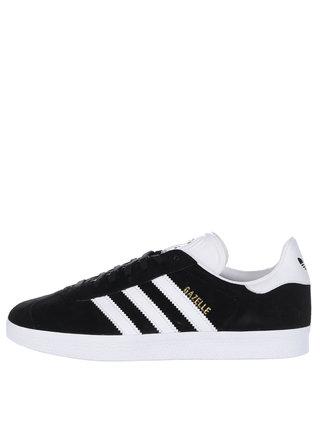 Čierne pánske semišové tenisky adidas Originals Gazelle