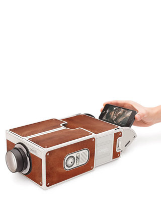 Hnědý projektor ke smartphonu Luckies
