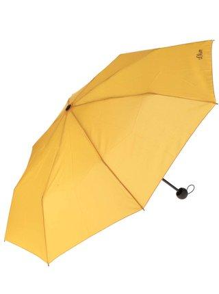 Žlutý dámský skládací deštník s.Oliver