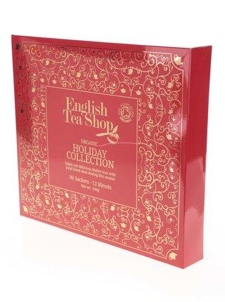 Cutie cadou rosie de ceai englezesc English Tea Shop