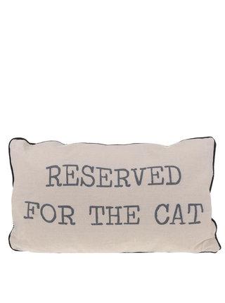 Béžový vankúš pre mačku Sass & Belle Reserved for the cat