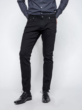 Čierne slim fit rifle Jack & Jones Glenn