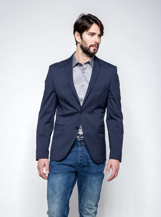 Tmavě modré oblekové sako Selected Homme Newone