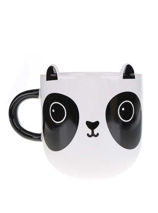 Čierno-biely keramický hrnček s motívom pandy Sass & Belle Aiko Panda Kawaii