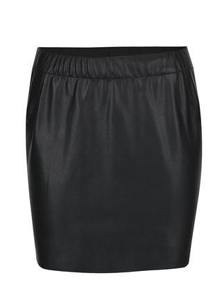 Čierna koženková sukňa VERO MODA Judy