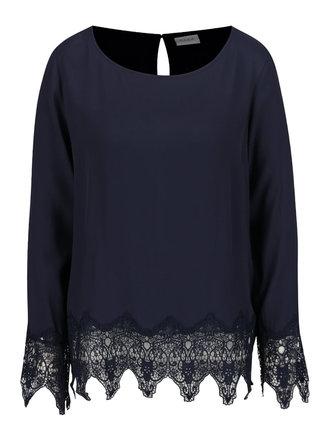 Bluza bleumarin cu dantela VILA Beana