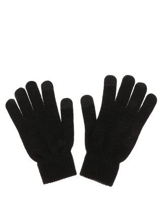 Černé dotykové rukavice na chytré telefony Pieces New Buddy