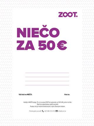 Elektronický poukaz na niečo zo ZOOTu v hodnote 50 €