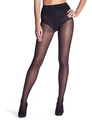 Čierne pančuchové nohavice Bellinda Figura 25 DEN