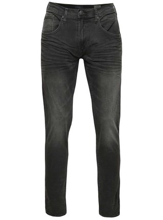 Blugi slim fit gri cu aspect decolorat Blend