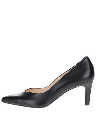 Pantofi negri cu toc Högl  din piele