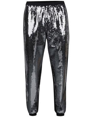 Pantaloni negri Idol Ray cu paiete argintii