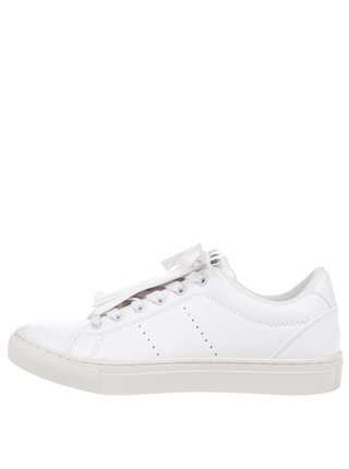 Pantofi sport crem Pieces Lope cu franjuri