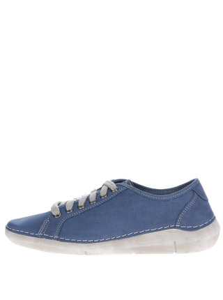 Pantofi sport albastri din piele pentru femei Weinbrenner