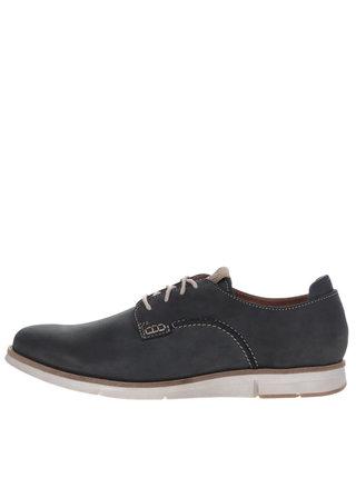 Pantofi gri inchis din piele pentru barbati Weinbrenner
