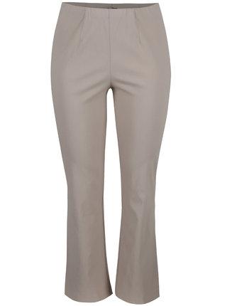 Béžové kalhoty s gumou v pase Ulla Popken