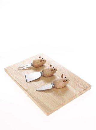 Súprava na prípravu syrov v tvare myší Kikkerland