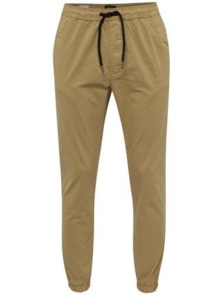 Béžové kalhoty s pružným pasem Jack & Jones Vega